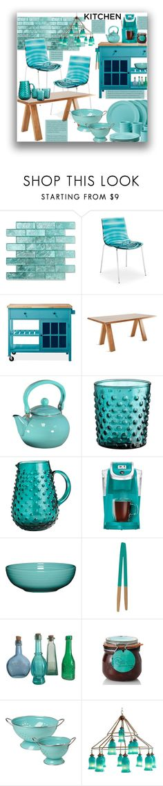 """""""Dream Kitchen"""" by marionmeyer ❤ liked on Polyvore featuring interior, interiors, interior design, home, home decor, interior decorating, CALLIGARIS, Threshold, Blu Dot and Kate Spade"""