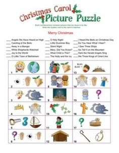 Can you guess the popular Christmas songs from the image hints in this Christmas song picture game? Try it yourself and then play with friends at holiday parties and gatherings. Popular Christmas Songs, Christmas Quiz, Fun Christmas Games, Christmas Trivia, Christmas Puzzle, Holiday Party Games, Christmas Activities, Christmas Printables, Christmas Angels