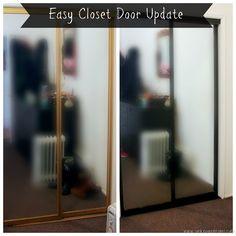 DIY Closet Door Spray Paint Update