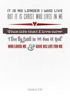 I live by faith