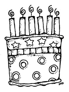 Black White Clip Art Digi Stamps MelonHeadz Happy Birthday Coloring Pages For Kids Sheets Books