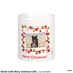 I #bet you won't find anything as #beautiful as this. #BorderCollie #MerryChristmas #Coffee #Mug 11 oz #dog #pet #doglovers #holidays #gift #present