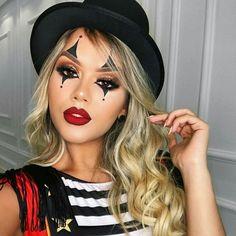 195 Likes 5 Kommentare Shopping dos Cosméticos ( Cute Clown Makeup, Halloween Makeup Clown, Mime Makeup, Pretty Halloween, Costume Makeup, Jester Makeup, Womens Clown Makeup, Scary Makeup, Skin Makeup
