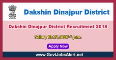 Dakshin Dinajpur District Recruitment 2018 - Hiring Medical Officer Post, Salary Rs.21,000/- : Apply Now !!!  The Dakshin Dinajpur District Recruitment 2018 has released an official employment notification inviting interested and eligible candidates to apply for the positions of Medical Officer. The eligible candidates may apply to the posts in the prescribed format available in official website (given below).   #2018 #DakshinDinajpurDistrict #DakshinDinajpurDistrictRecru