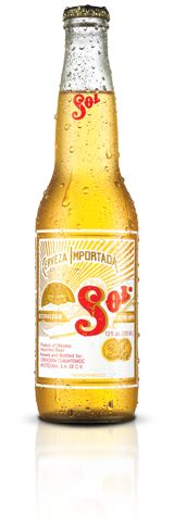 """Sol beer is brought from the distant Mexico. Legend says, that one morning in the year 1899, in a small brewery near Mexico City, called """"El salto de agua"""" a German brewer spotted the reflection of a small radius from the Sun in one of the barrels. Honoring this moment, he created a new beer which he called """"El Sol"""". Sol is a golden beer, authentic Mexican, with aromatic taste, full of freshness."""