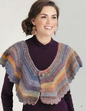 Pretty, colorful shawls that are perfect for spring! #crochet #cuffedshawl