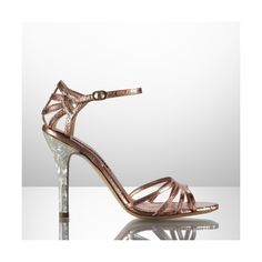 Ralph Lauren Collection Python-Mother of Pearl Sandal