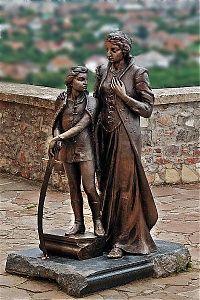 Zrinyi Ilona és fia, Rákóczi Ferenc<br/>a munkácsi várban