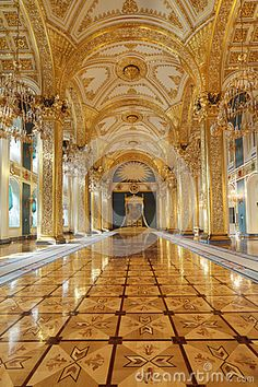 Throne hall. Grand Kremlin Palace, Moscow, Russia