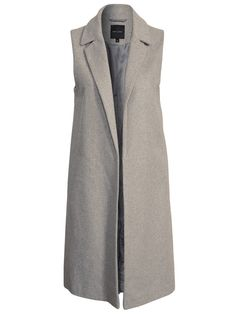 cdd16150 new look 290647-3843_5 Sleeveless Coat, Gray Coat, Hijab Fashion, New Look