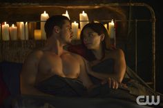 """Beauty and the Beast -- """"Love is a Battlefield"""" -- Image Number: BB408a_0238.jpg -- Pictured (L-R): Jay Ryan as Vincent and Kristin Kreuk as Catherine -- Photo: Ben Mark Holzberg/The CW -- © 2016 The CW Network, LLC. All rights reserved."""