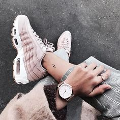 Nike Air Max 95 by Julinfinity ♡ . Nike Air Max 95 by Julinfinity ♡ Sneakers Mode, Sneakers Fashion, Fashion Shoes, Shoes Sneakers, Roshe Shoes, Adidas Shoes, Nike Free Shoes, Running Shoes Nike, Estilo Fashion