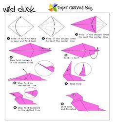Paper Origami: A wild Duck