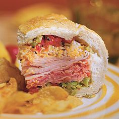 Deli Stuffed Sandwich | 10 Minutes | SouthernLiving.com