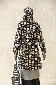 """Rumble"" raincoat - organic cotton in rain or shine!"