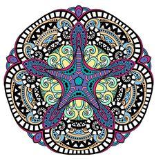 #arttherapy #colour #colourtorelax #createdbyme #painteditmyself  #patterns #mandala