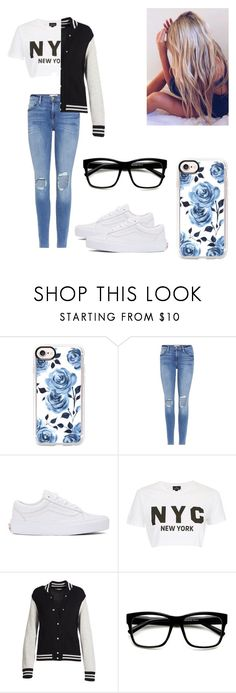 """""""Car trouble"""" by kendall-bostic ❤ liked on Polyvore featuring Casetify, Frame, Vans, Topshop and Marc Jacobs"""