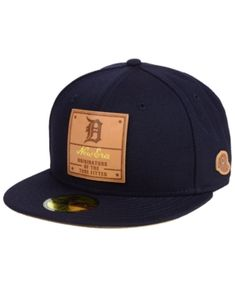 New Era Detroit Tigers Vintage Team Color 59FIFTY Fitted Cap - Blue 7 New  Era Cap c12eec6d6bb