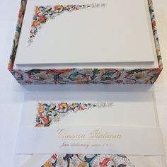 #Italian #Stationery #Florentine #Design #Personal Stationery #Rossi #Hyegraph Italian Wedding Invitations, Wedding Stationery, Tattoos, Prints, Instagram Posts, Design, Art, Art Background, Tatuajes