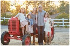 Two Sisters Farms Family Holiday Photos Red Tractor Asea Tremp Photography Orange County