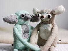 MUTA Creatures made of natural materials by MUTAtoys Ooak Dolls, Art Dolls, Monster Toys, Designer Toys, Handmade Toys, Natural Materials, Plushies, Whimsical, Dinosaur Stuffed Animal