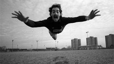 Bruce Grobbelaar does his Superman impression at Liverpool's training ground