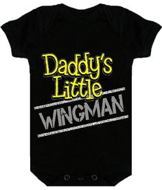 Baby Boy Daddy's Little Wingman Onesie by socalbabyswag on Etsy, $19.95