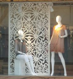 Continental clothing store decoration simple partition MDF entrance screen wall pierced engraved Tung Flower