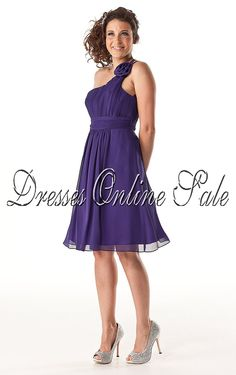 Purple Sheath One Shoulder Knee-length Bridesmaid Dress Shop Online - 4p121 - sku301120209c12
