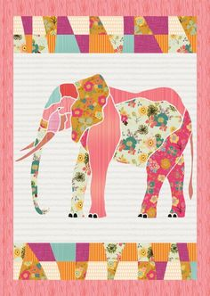 This beautiful elephant quilt is perfect for your baby or child's room…