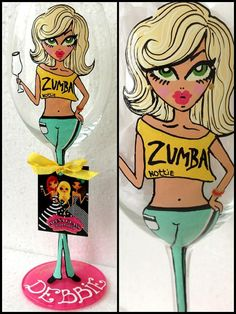Personalized Hand Painted Wine Glass goblet  Flute by AlenaShop, $32.00 sooooo cute