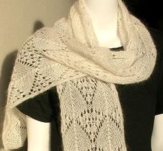 Crystal Palace Yarns - free knit pattern Lace Scarf - Madeira Cascade - knit in Crystal Palace Kid Merino yarn