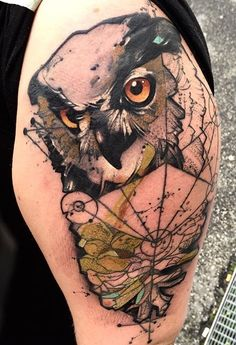 Bob Mosquito owl tattoo