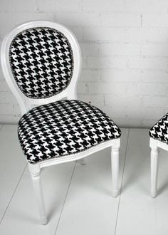 Louis Chair in Hounds Tooth - RoomServiceStore.com