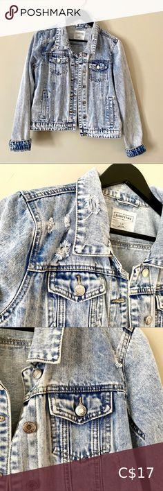 I just added this listing on Poshmark: 2/$20 Eighty two denim distressed jean jacket. #shopmycloset #poshmark #fashion #shopping #style #forsale #Ardene #Jackets & Blazers