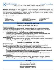 Blue Executive Resume Template