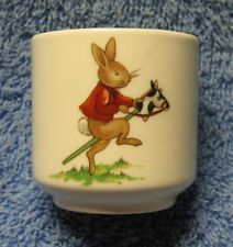 beatrix potter rabbit riding horse egg cup