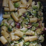 Mark Bittman on Shine: Baked Rigatoni with Brussels Sprouts, Figs and Blue Cheese
