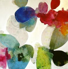 "Meredith Pardue - ""Kapalua Hibiscus VI"", 2013. Ink, oil and charcoal on canvas."