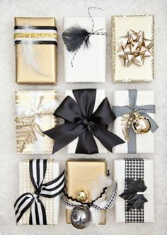 Creative Gift Wrap Ideas and Christmas Printables