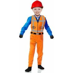 Lego Movie Costumes - Toddler The Builder Costume,