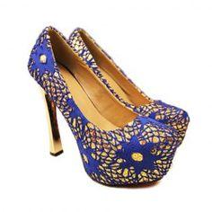 $15.93 Gorgeous Platform Design Club Lace High Heels Pumps For Women