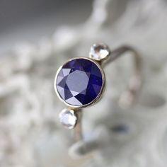 Sapphire 14K White Gold Ring