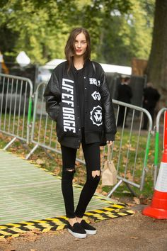 The One Kind Of Skinny Jeans Still Going Strong #refinery29  http://www.refinery29.com/ripped-black-skinny-jeans#slide4  The rips should be minimal, clean, and localized around your knee (in case you're in the DIY'ing mood this weekend).