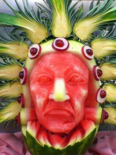Chief Melon Head Canvas Print / Canvas Art by Cynthia Daniel