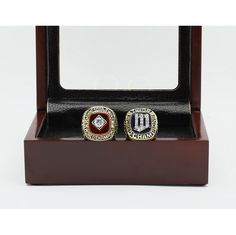 Newest Design Gorgeous Ring sets with Wooden Boxes Replica Copper 2pcs/packs Minnesota Twins sports world Fans Championship Ring