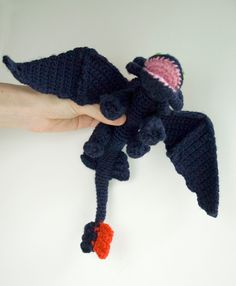 Toothless crochet pattern / dragon amigurumi tutorial by #tinyAlchemy