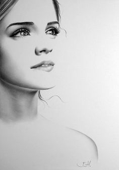 Pencil Portraits - im completely unashamed that emma watson is my girl crush - Discover The Secrets Of Drawing Realistic Pencil Portraits.Let Me Show You How You Too Can Draw Realistic Pencil Portraits With My Truly Step-by-Step Guide. Amazing Drawings, Realistic Drawings, Amazing Art, Beautiful Drawings, Awesome, Portrait Au Crayon, Pencil Portrait, Pencil Art, Pencil Drawings