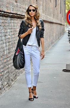 Street Style not a huge fan of the bag but I love this look!