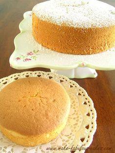 chiffon cake recipe http://www.make-fabulous-cakes.com/chiffon-cake.html